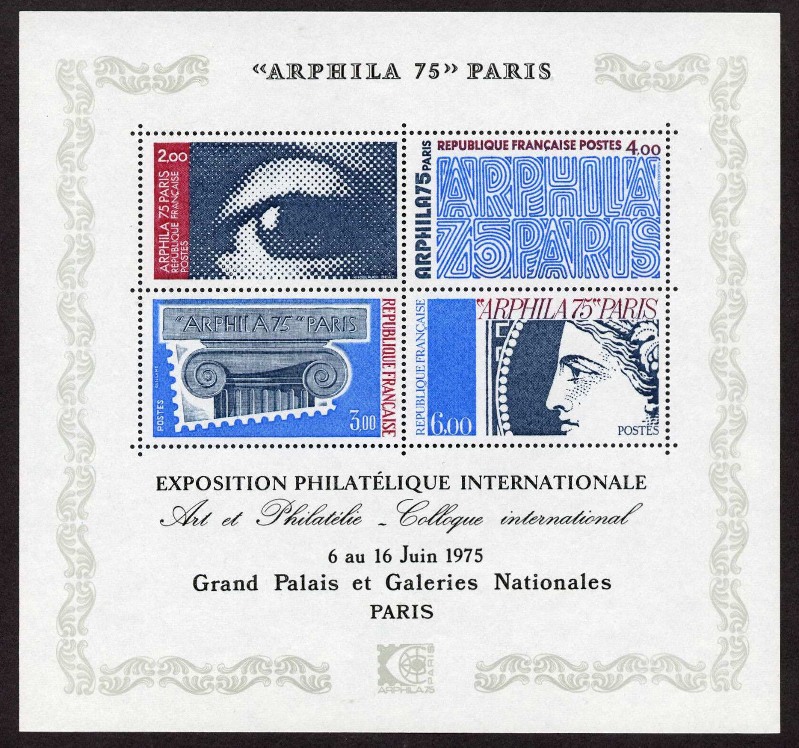 France 1429 MNH Stamp on Stamp, ARPHILA Philatelic