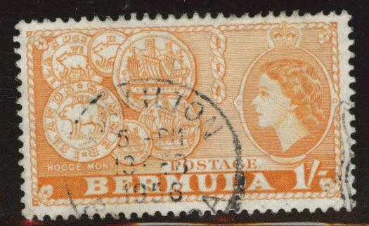 BERMUDA Scott 155  used  from 1953-58 set