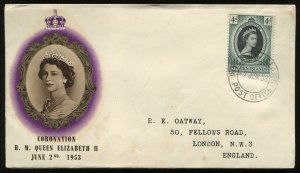 Pitcairn Island another QEII 1953 cacheted First Day Cover