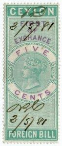 (I.B) Ceylon Revenue : Foreign Bill 5c (First)