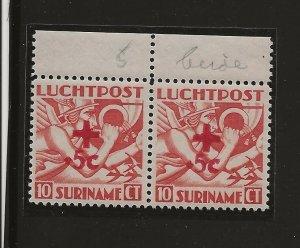 Suriname 1942 Red Cross both types   MNH