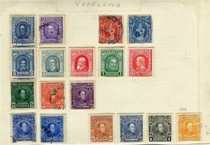 VENEZUELA; 1890s-1900s early classic issues small mixed USED LOT