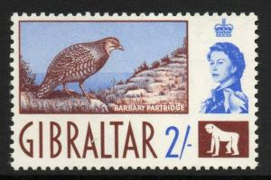 GIBRALTAR SG170 1960 2/= CHOCOLATE & BLUE MTD MINT