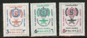 Saudi Arabia Scott 252-254 MNH** 1962 malaria set