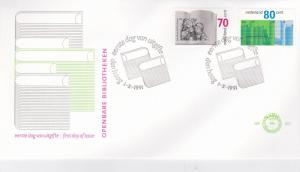 Netherlands 1991 Centenary of Public Libraries FDC Unadressed VGC No.287
