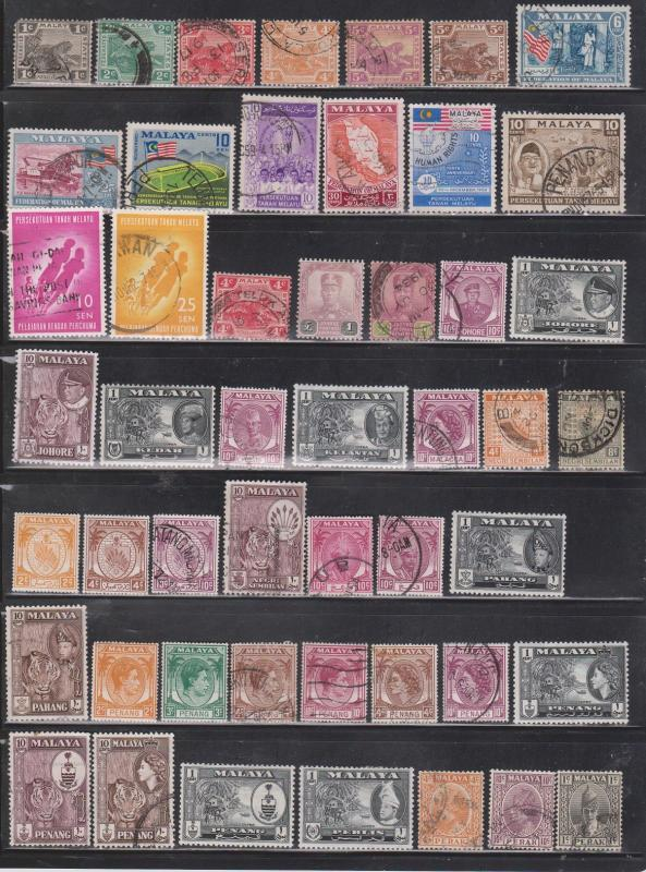 MALAYA - Collection Of Used Stamps - Good Value