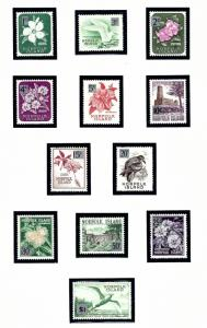 Norfolk Is 71-82 MNH 1966 Surcharged set