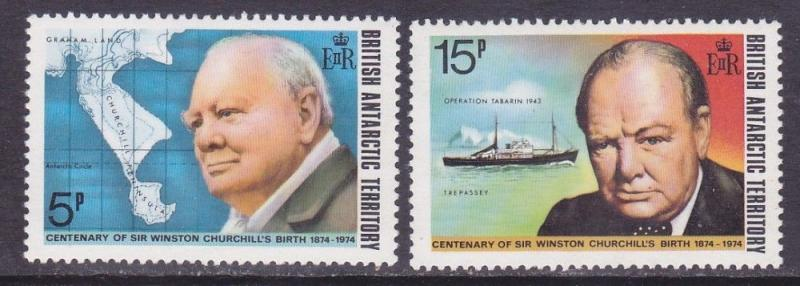 British Antarctic Territory BAT 62-63 MNH 1974 Sir Winston Churchill Set