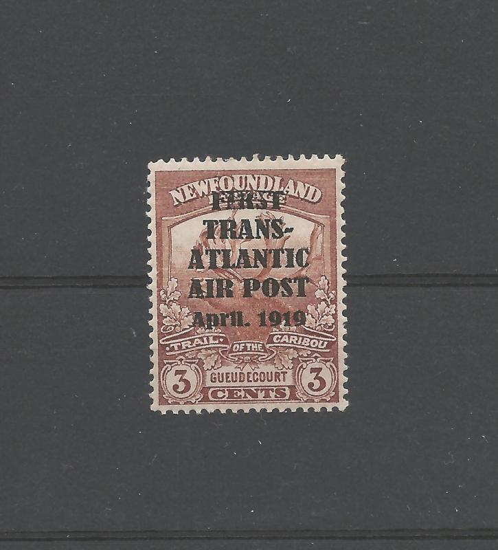 NEWFOUNDLAND #C1 MINT H REPRINT/FORGERY C$35,000 -AIR MAIL STAMPS HAWKER FLIGHT