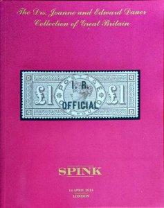 Auction Catalogue Drs. JOANNE & EDWARD DAUER Collection of GREAT BRITAIN QV etc.