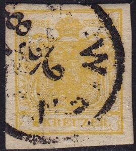 Austria - 1854 - Scott #1d - used - Coat of Arms