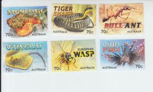 2014 Australia Things That Sting (6) (Scott NA) MNH