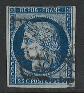 France Scott 6 Used! 4 Margins!
