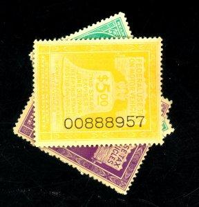 RV18,30,42 MINT VF OG NH Cat$10