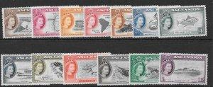 ASCENSION SG57/69 1956 DEFINITIVE SET MNH