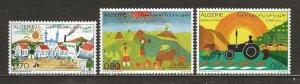 Algeria Scott catalog # 515-517 Unused Hinged