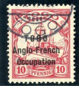 Togo 1914 10pf carmine (wmkd) very fine used. SG H31. Sc 63.