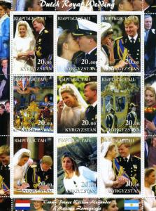 Kyrgyzstan 2002 Dutch Royal Wedding Sheet Perforated mnh.vf