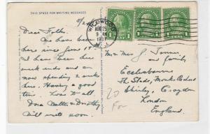 united states 1937 boat scene wildwood crest NJ stamps post card ref 21167