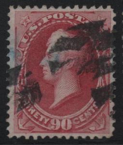US Scott #166 VF Sound Stamp With Grid Fancy Cancel