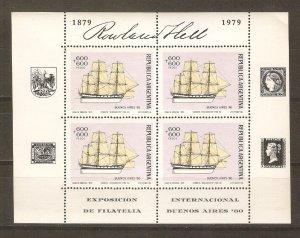 Argentina 1979 Sailing Ships mint NH sheetlets