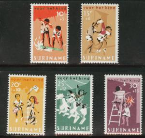 Suriname Scott B127-131 MH* 1966 semi-postal set