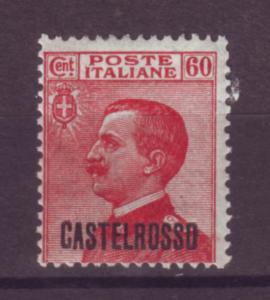 J21198 Jlstamps 1922 italy castellorizo mh #58 king ovpt