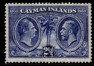 CAYMAN ISLANDS GV SG89, 2d grey, M MINT.