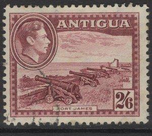 ANTIGUA SG106a 1942 2/6 MAROON USED