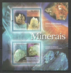 BC918 2011 S.TOME & PRINCIPE NATURE GEOLOGY MINERALS CRYSTALS MINERAIS KB MNH