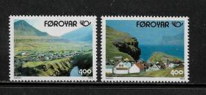 Faroe Is. 250-1 MNH Complete Set - Villages