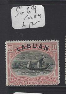 LABUAN (P2608B)  BOAT 8C  SG 69  MOG