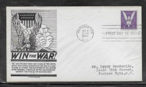 US #905 Win the War Anderson cachet addressed fdc