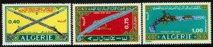 Algeria #444-46  MNH - Weapons Sabre Guns Pistol (1970)