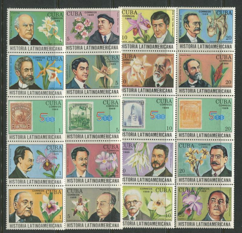 Cuba - Scott 3153-3170 - History Type -1989 - Set of 20 Stamps