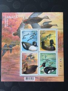 Canada Mint NH #2166b Duck decoys - birds