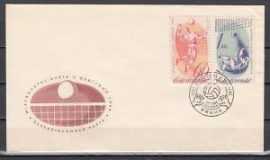 Czechoslovakia, Scott cat. 1370-1371. Volleyball values. First day cover.