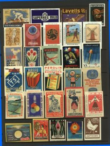 Belgium Finland USSR Advertising Matchbox Labels - Various (29v) Fine Cinderella