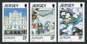 Jersey 631-633,MNH.Michel 612-614. EUROPE CEPT-1993.Contemporary Art.Opera House