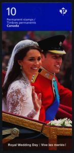 Canada 2478a Booklet MNH Royal Wedding Day, Prince William & Catherine