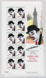 Gibraltar stamp Europe: Circus-clowns mini sheet set MNH 2002 WS101282