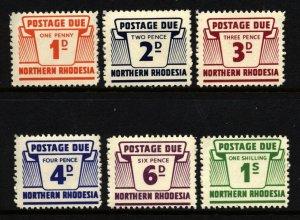 Northern Rhodesia Scott J5-10 Mint Lightly Hinged