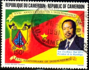 Independence, 30th Anniversary, Cameroun stamp SC#857 used