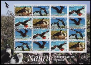 Nauru WWF Greater Frigate Bird Sheetlet of 4 sets SG#681-684 MI#690-693