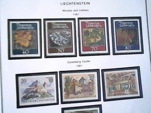 1981  Liechtenstein  MNH  full page auction