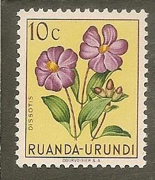 Ruanda-Urundi   Scott  114    Flowers