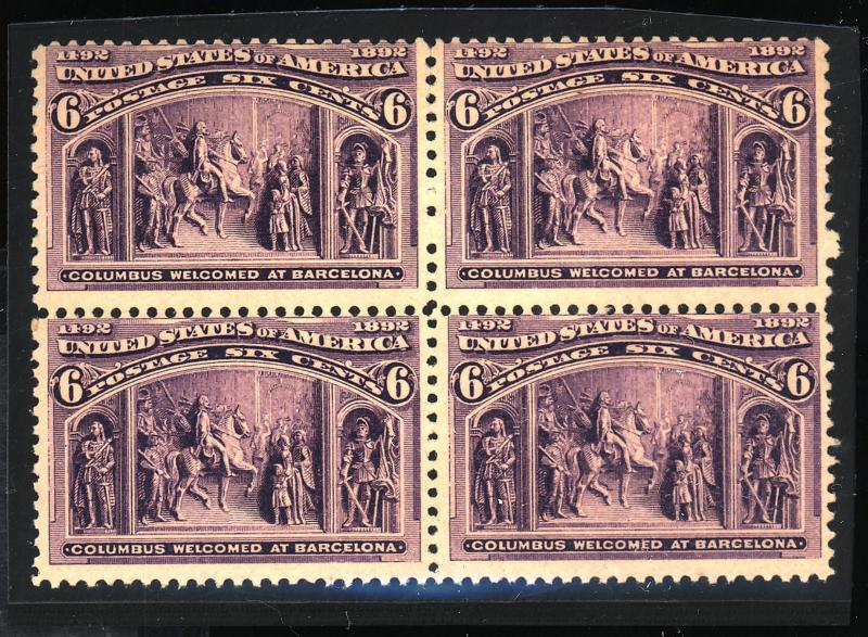 235 MINT Block F-VF OG NH 2 stps Minor gum dist Cat$560