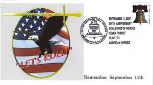 Flight 93/Sept. 11 Anniversary Cover from Toad Hall Covers!