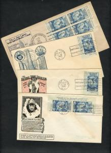 #735a NAT'L STAMP EXHIBITION FDC CACHETS 4 DIFF FEB 10,1934 CV $85 BU2743