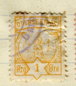 NORWAY; ODENSE 1870s-80s classic Local Post issue fine used value